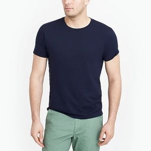 NWT Slim Washed Jersey Tee in Navy
